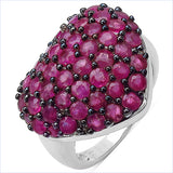 3.53 Carat Genuine Ruby .925 Sterling Silver Ring