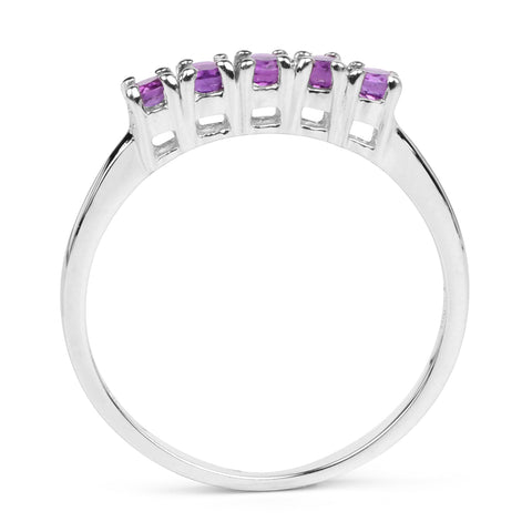 0.38 Carat Genuine Amethyst .925 Sterling Silver Ring