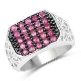 1.13 Carat Genuine Ruby .925 Sterling Silver Ring