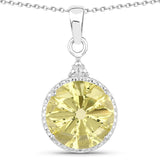 12.20 Carat Genuine Lemon Quartz .925 Sterling Silver Jewelry Set
