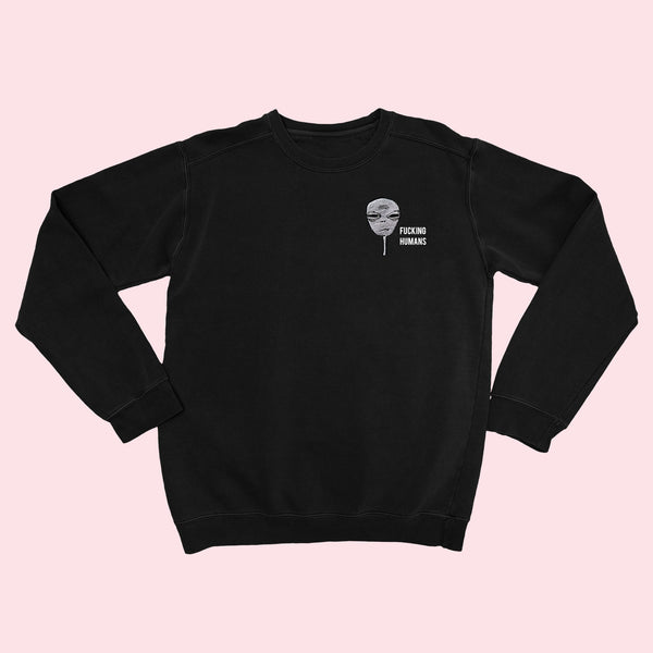 FCKING HUMANS- Alien Organic Embroidered Sweater