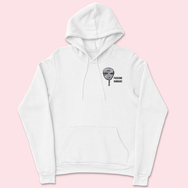 FCKING HUMANS- Organic Embroidered Unisex Hoodie