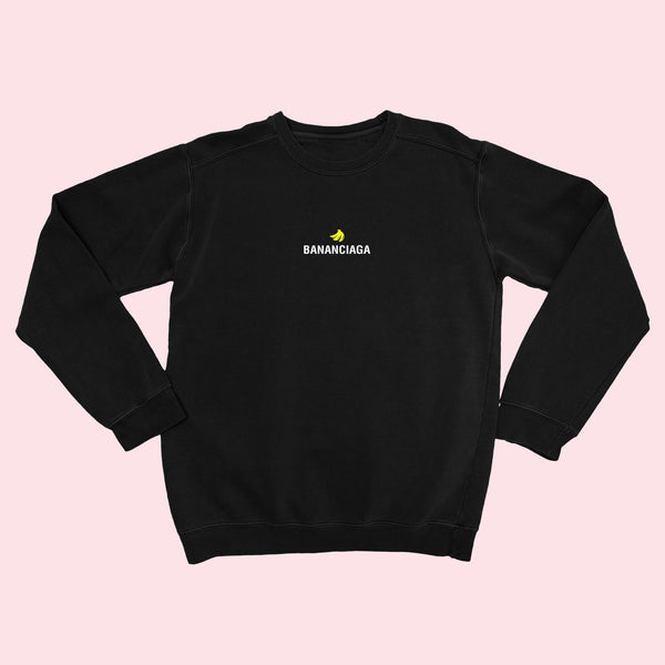 BANANCIAGA- Embroidered Unisex Sweatshirt