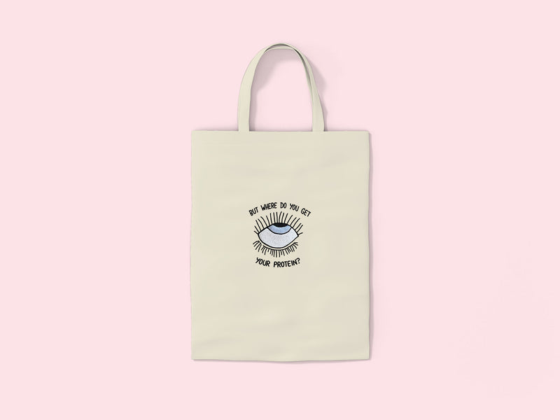 EYEROLL- Embroidered Tote Bag