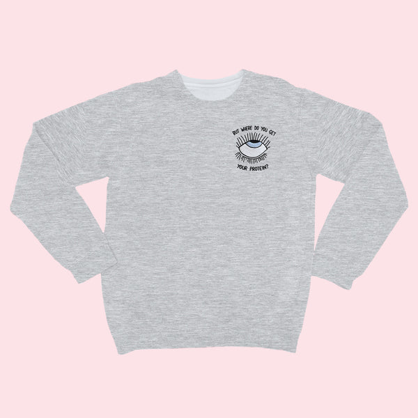 EYEROLL- Embroidered Unisex Sweater