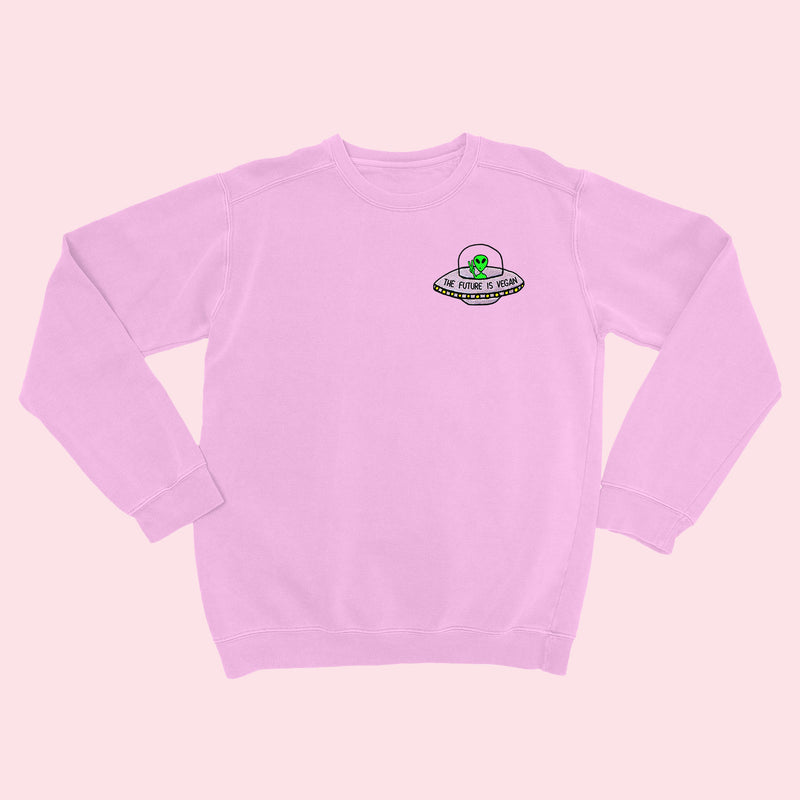 FUTURE IS VEGAN- Organic Embroidered Sweater