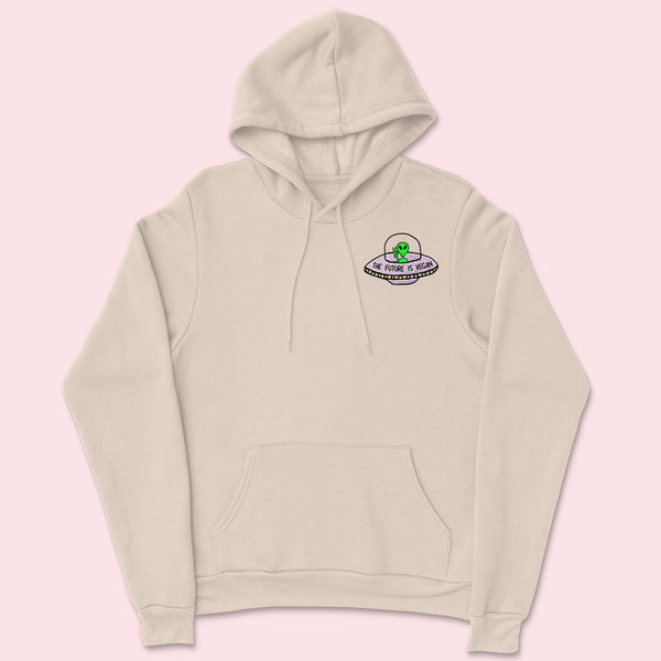 FUTURE IS VEGAN- Organic Embroidered Hoodie