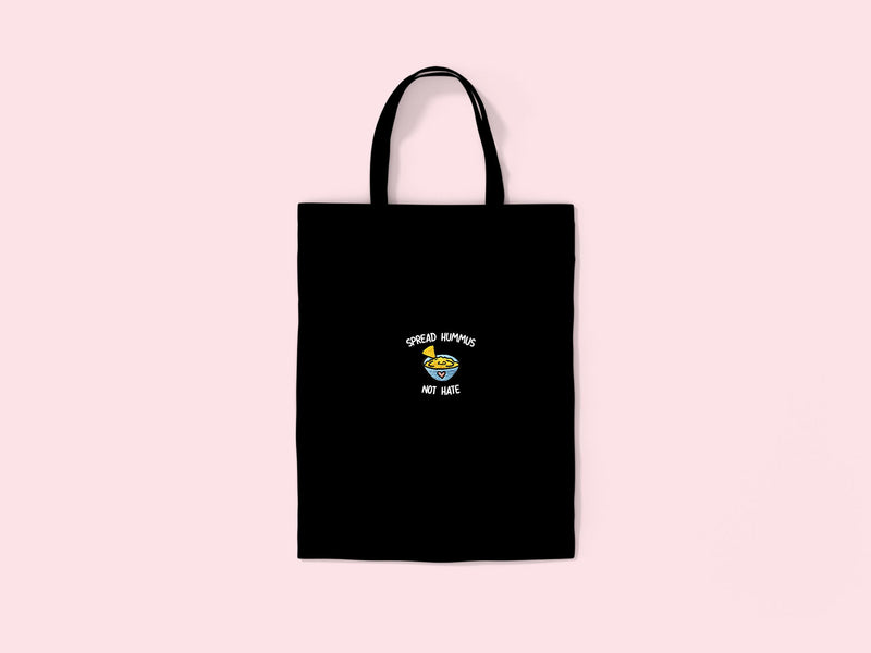 SPREAD HUMMUS- Embroidered Tote Bag