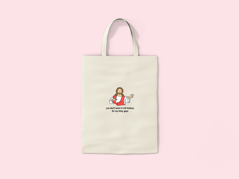 Jesus Christmas Tote Bag