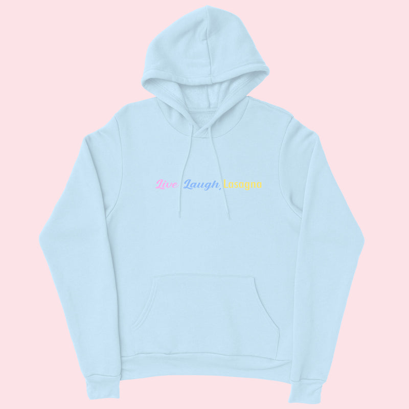 Live Laugh- Organic Embroidered Hoodie