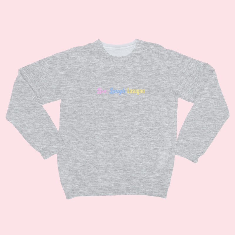 Live Laugh- Organic Embroidered Sweater