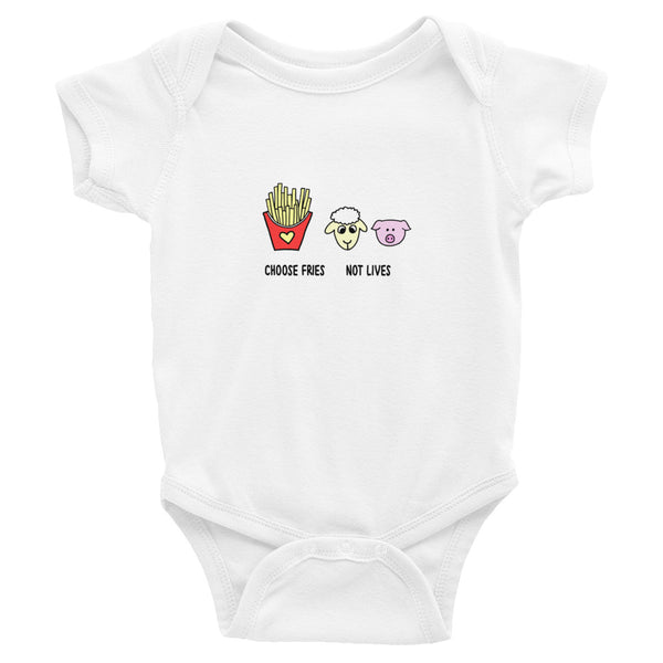 Choose Fries Not Lives- Baby Onesie