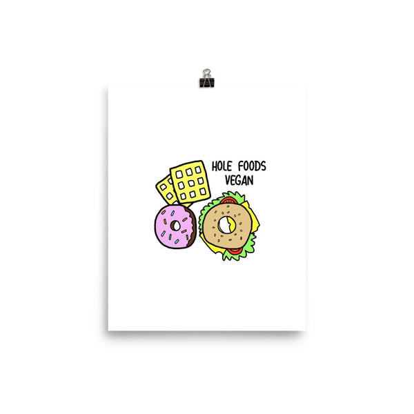 HOLE FOODS Vegan- A4 Print