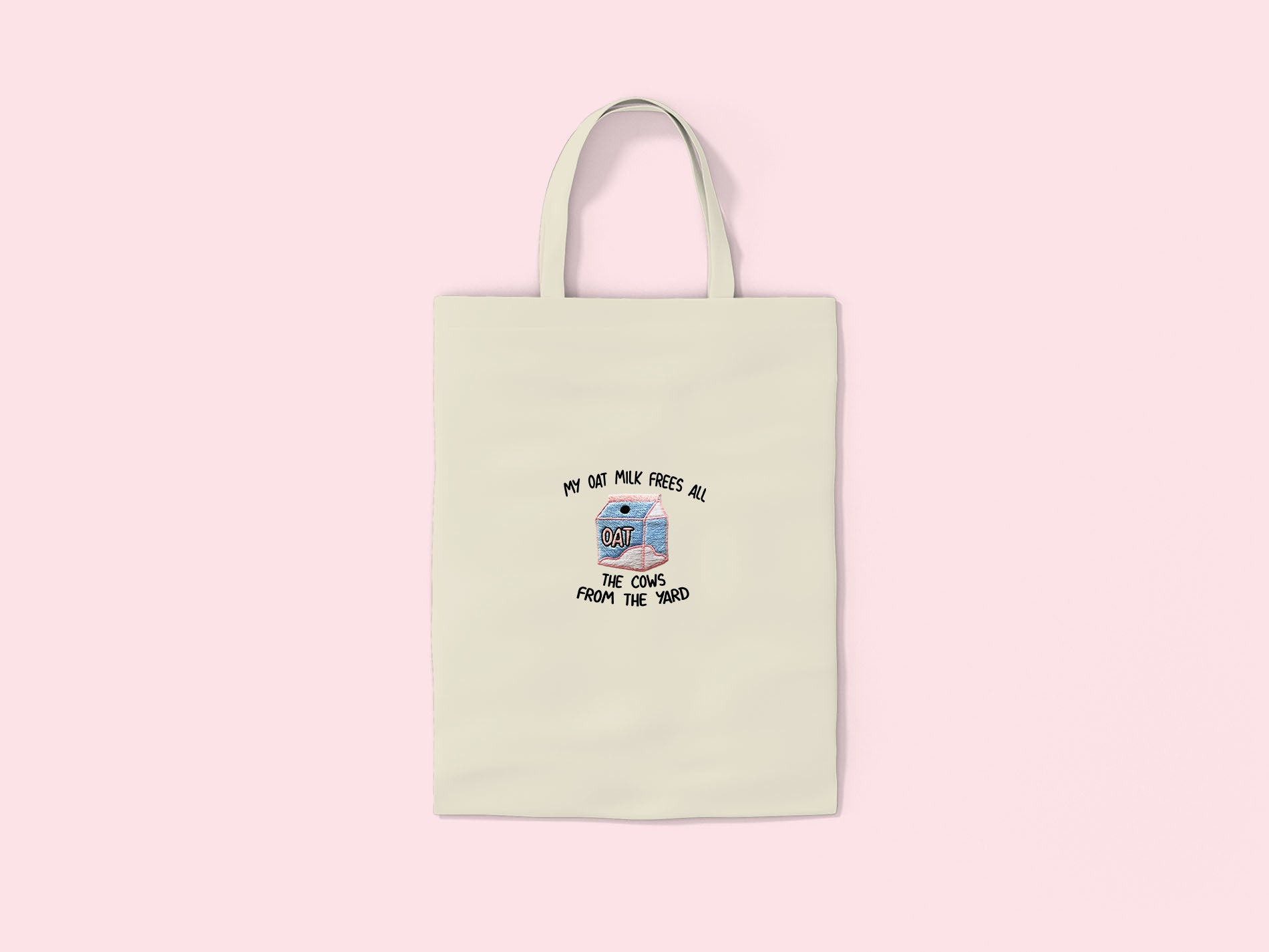 My Oat Milk- Embroidered Tote Bag