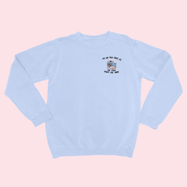 MY OAT MILK- Embroidered Women's Shirt