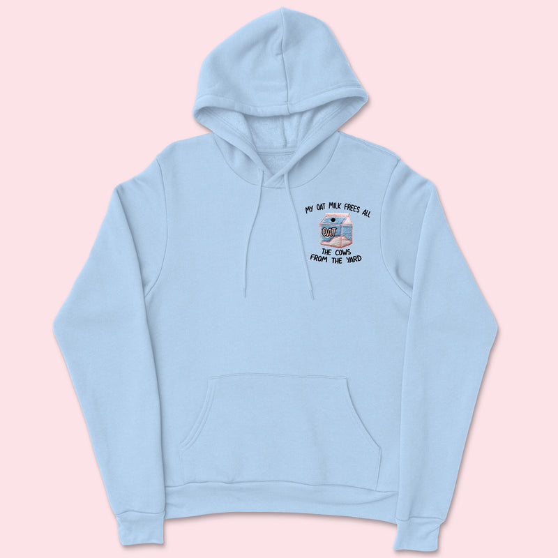 MY OAT MILK- Organic Embroidered Unisex Hoodie