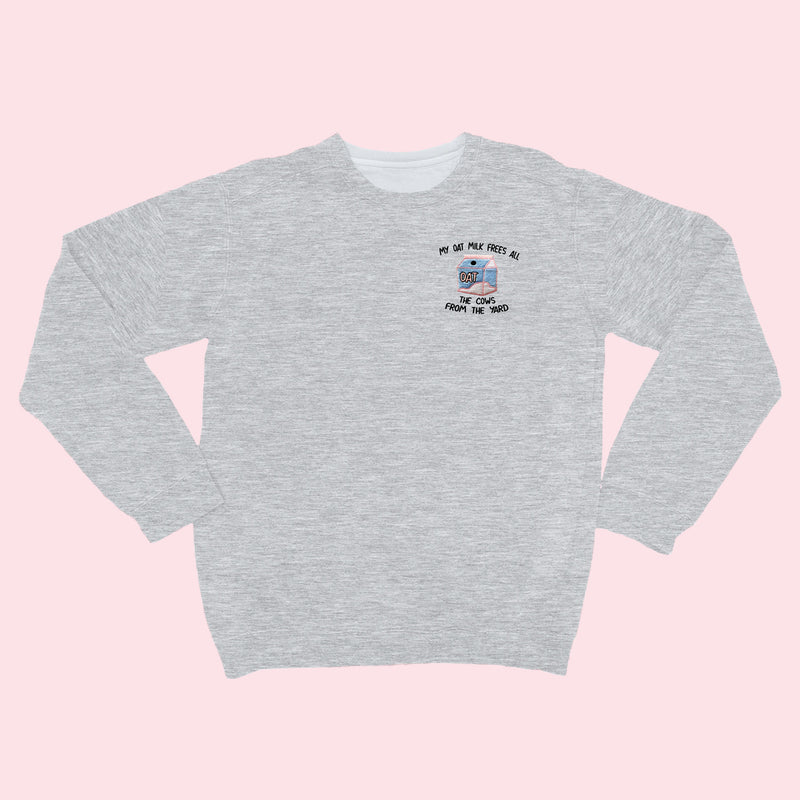 MY OAT MILK- Organic Embroidered Sweater