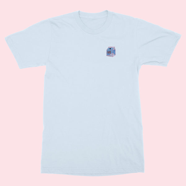 OAT MILK CARTON- Embroidered Unisex T-shirt