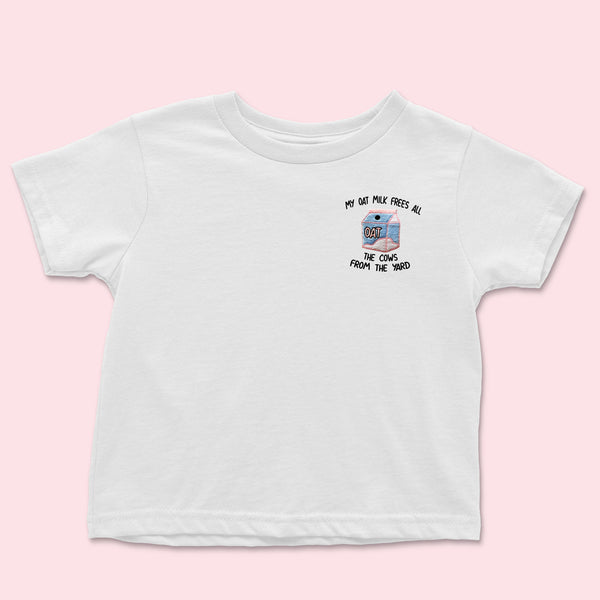My Oat Milk- Embroidered Kids T-Shirt