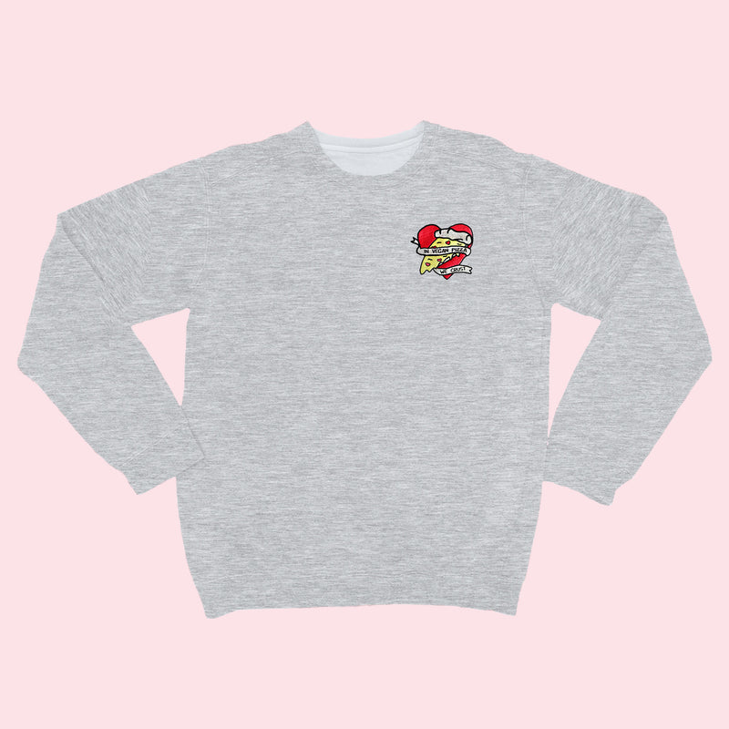 VEGAN PIZZA- Organic Embroidered Sweater