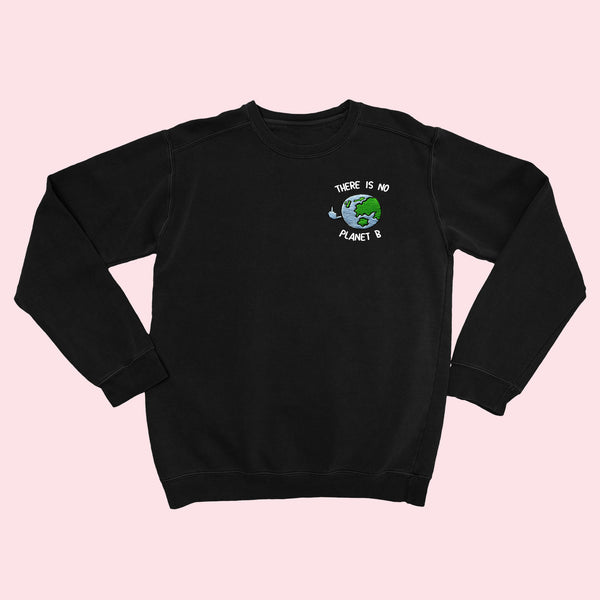 Planet B- Embroidered Unisex Sweater