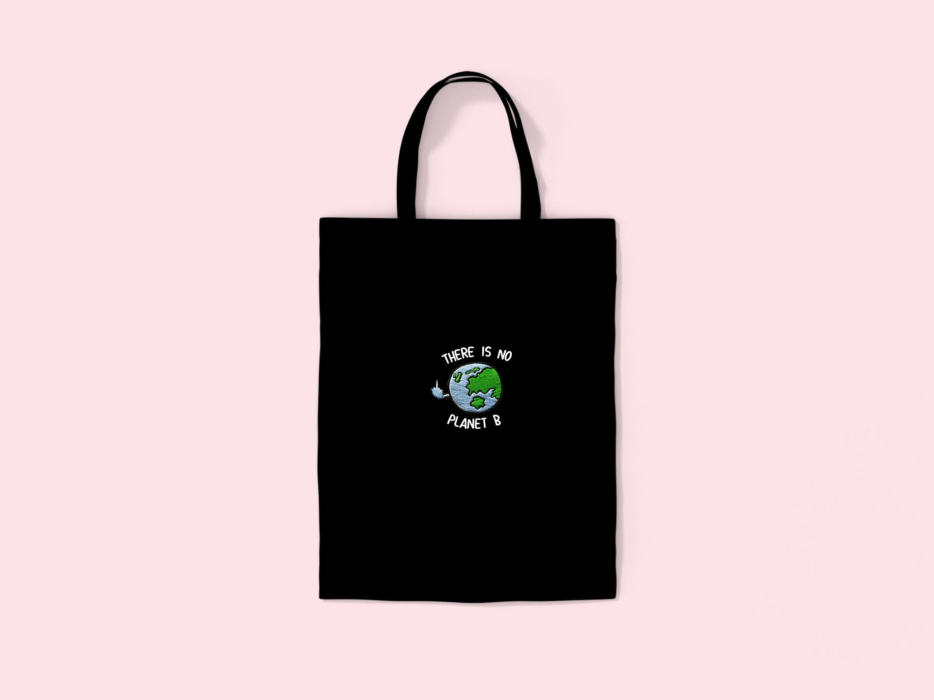Planet B- Embroidered Tote Bag