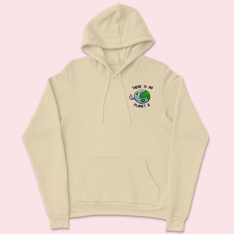 PLANET B- Organic Embroidered Unisex Hoodie