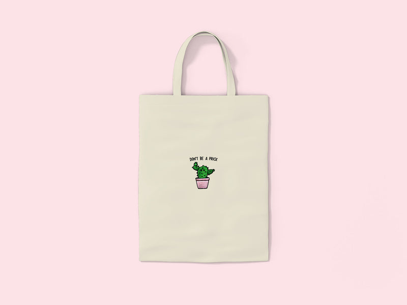 PRICK- Embroidered Tote Bag