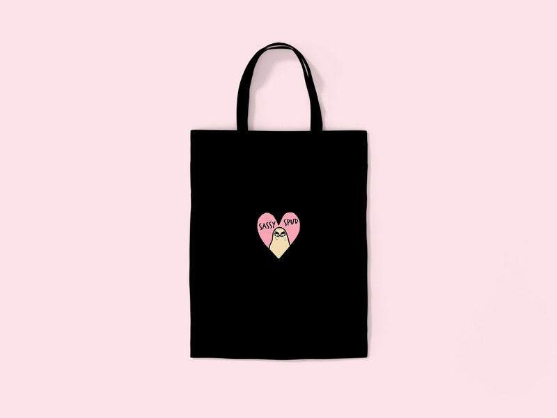 SASSYSPUD- Embroidered Tote Bag