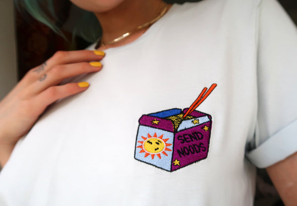 SEND NOODS- Unisex Embroidered Shirt