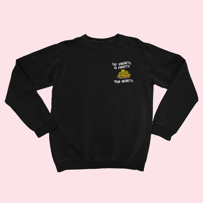 Eat Spaghetti- Embroidered Unisex Sweater