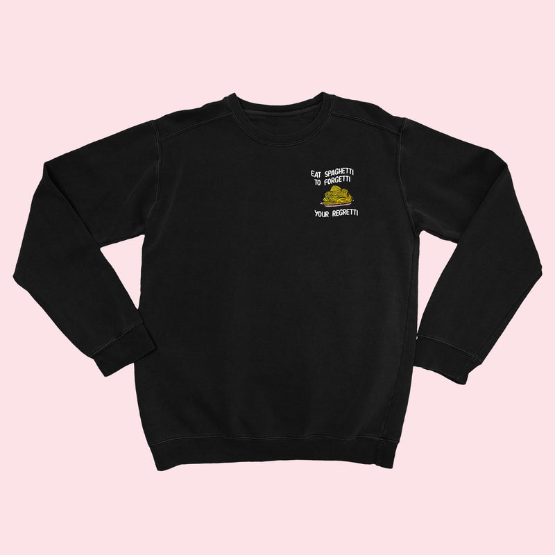 EAT SPAGHETTI- Organic Embroidered Sweater