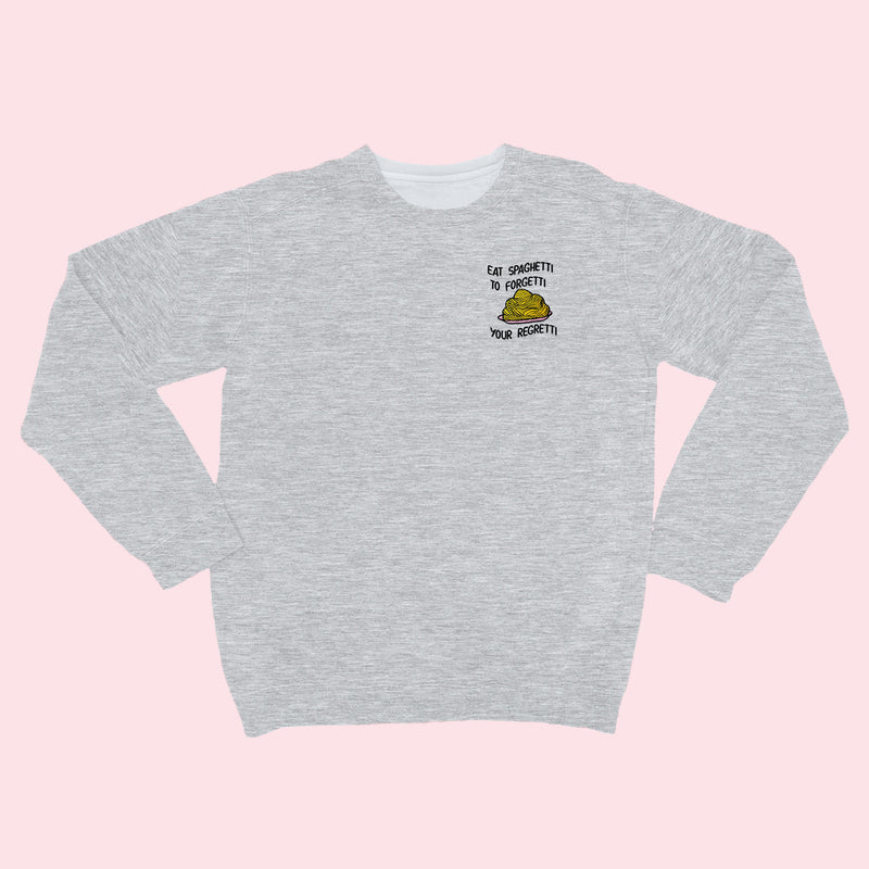 Eat Spaghetti- Embroidered Unisex Sweatshirt