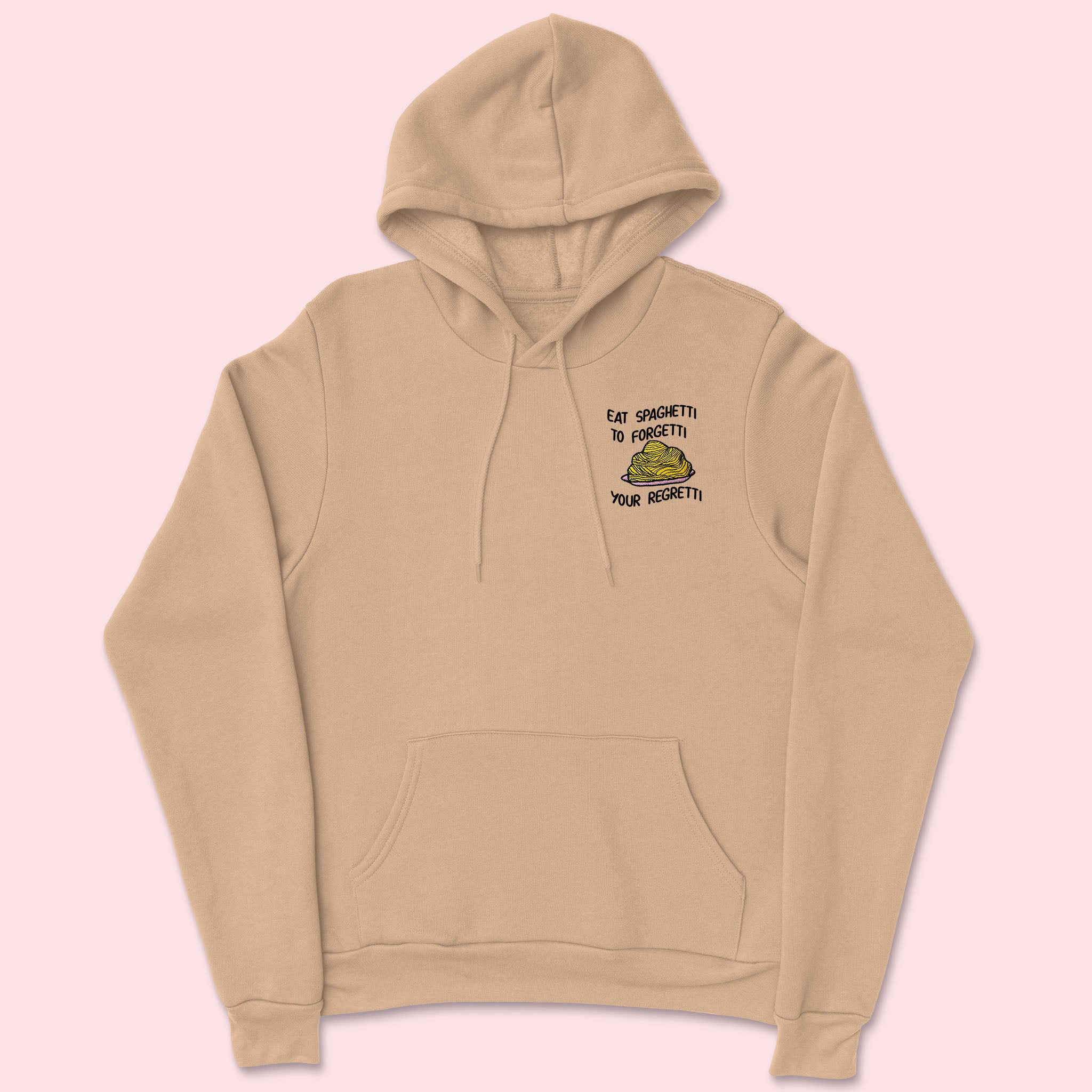 Eat Spaghetti- Embroidered Unisex Hoodie
