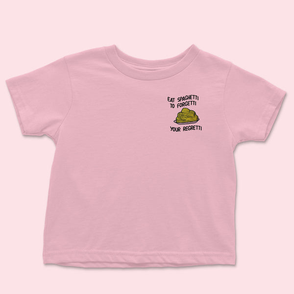 Eat Spaghetti- Embroidered Kids T-Shirt