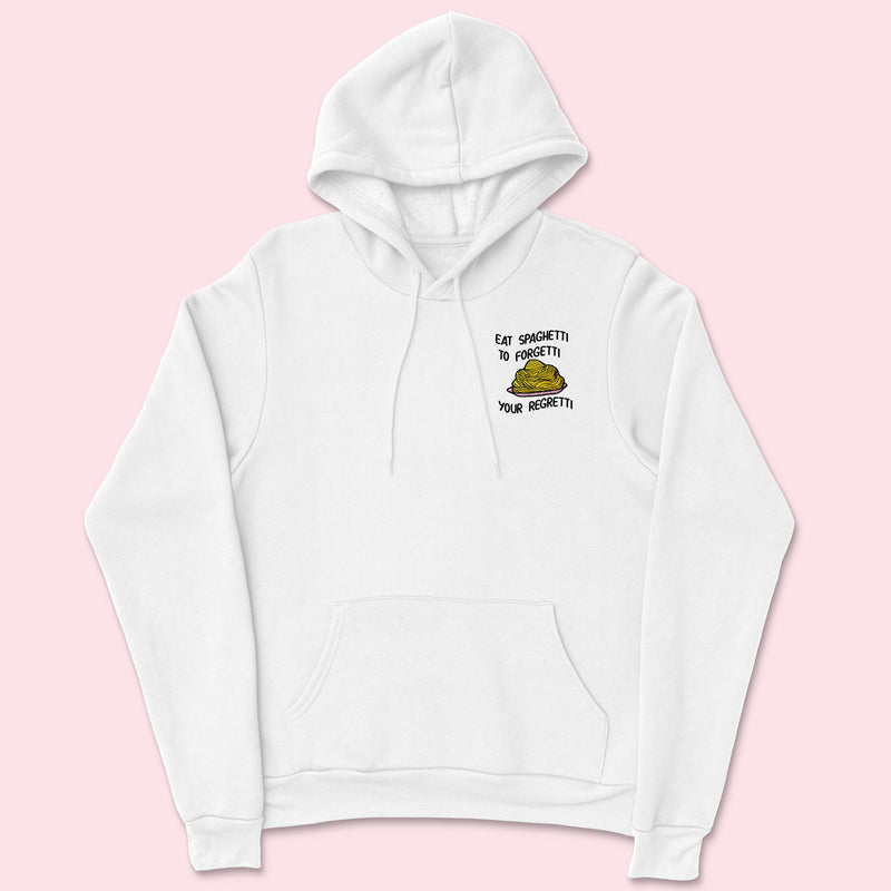 EAT SPAGHETTI- Organic Embroidered Unisex Hoodie