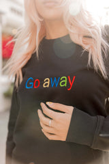 GO AWAY- Organic Embroidered Sweater