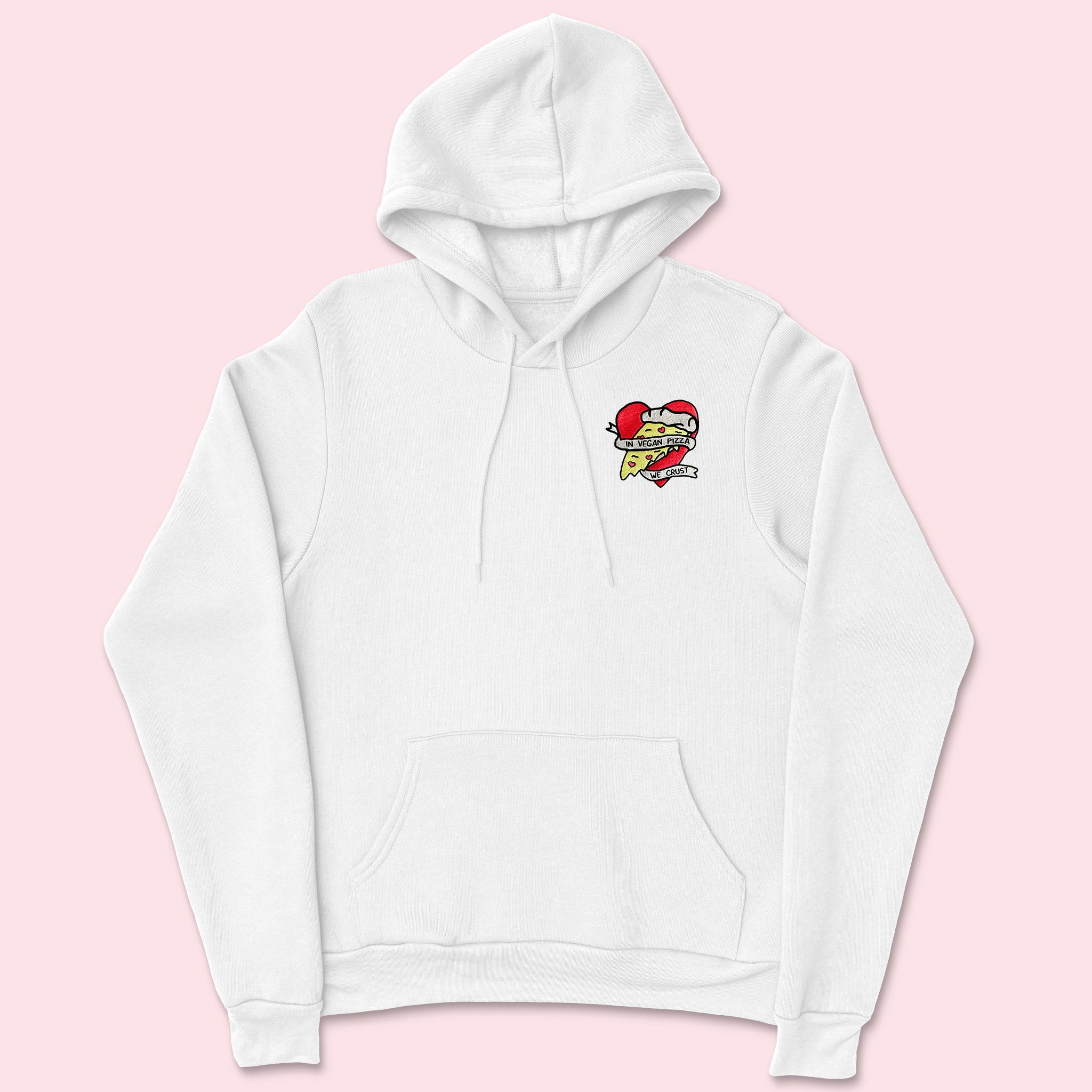 VEGAN PIZZA- Embroidered Unisex Hoodie