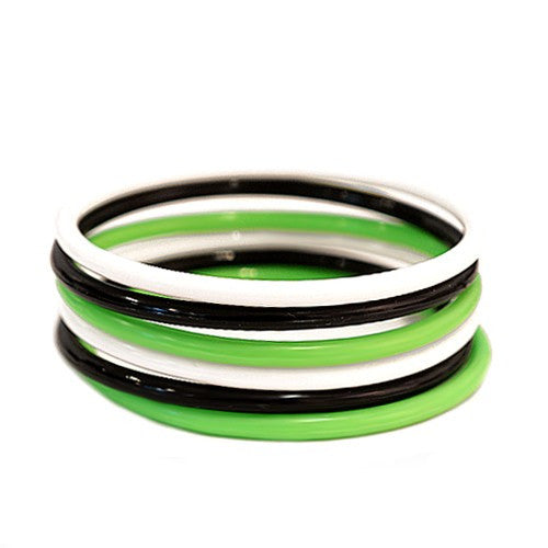 Women's Fashion Multi Color Plastic Bangles Set Of 6Pcs Gift For Her