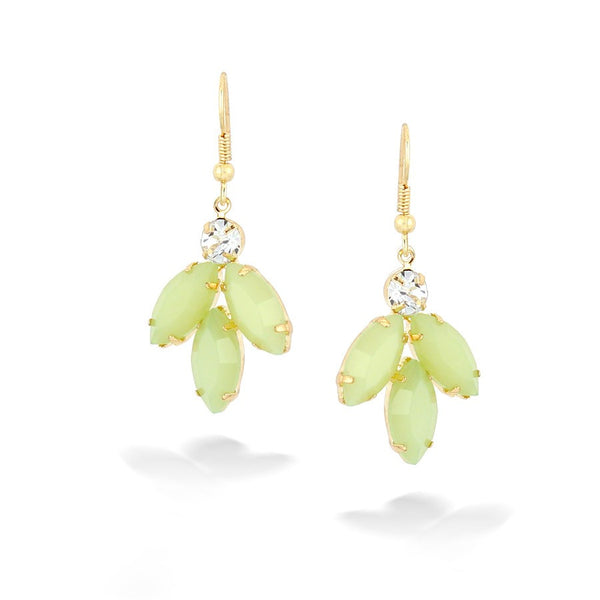 Green Faceted Earrings Gift For Her