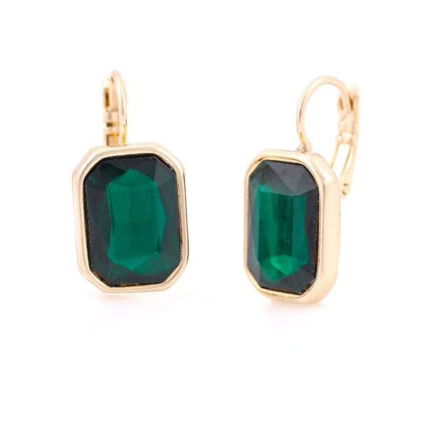 Emerald Stud Earrings Gift For Her