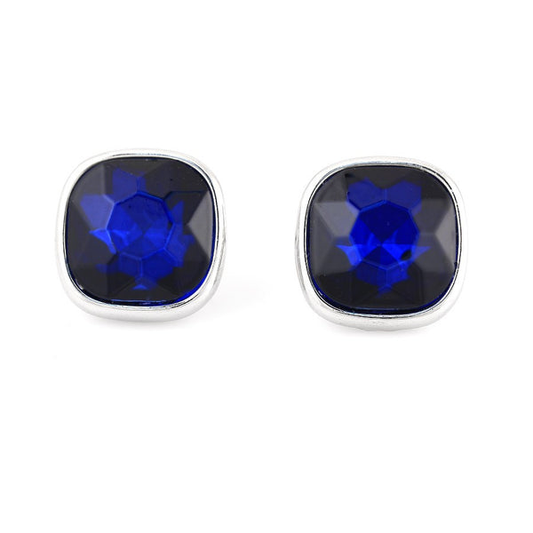 Rhodium Blue Earrings Gift For Her