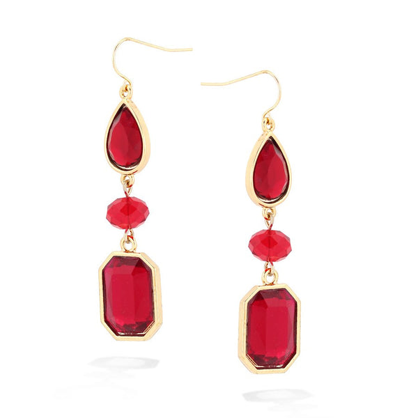 Red Crystal Earrings Gift For Her