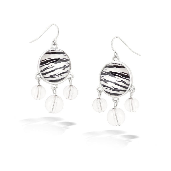 Zebra Print Beads Earrings Gift For Her