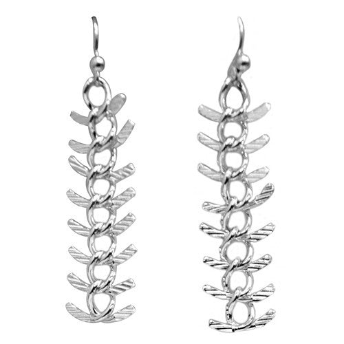 Women's Fashion Silver Long Chain Earrings Gift For Her