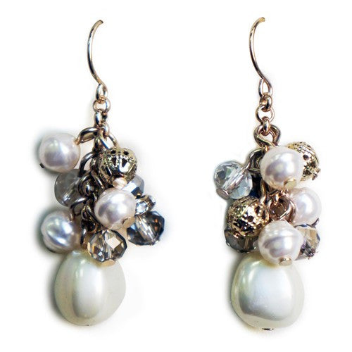 Women's Fashion Pearl & Crystal Earrings Gift For Her