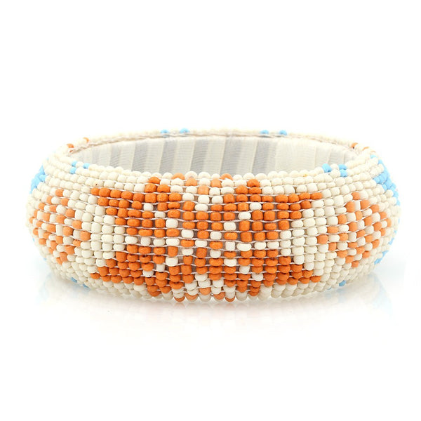 Multi Ciolor Seed Bead Bangle Bracelet Gift For Her