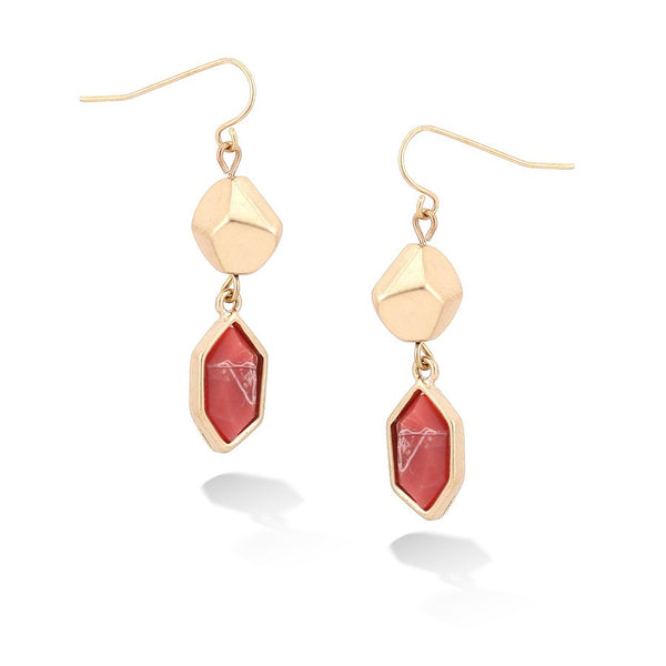 Gold Coral Earrings Gift For Her