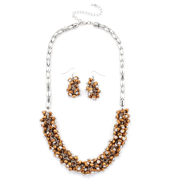 Brown Beads Necklaces Gift For Her