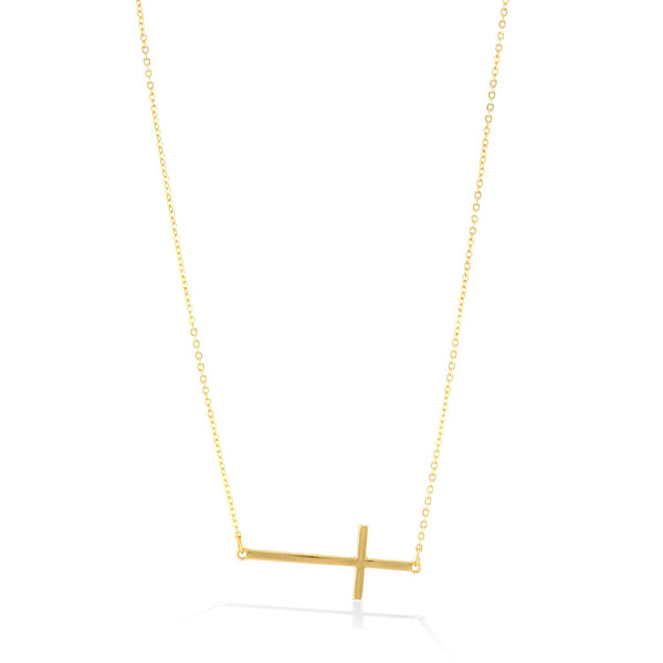 Fashion Gold-Tone Cross Necklace Women's Girl'S Gift For Her